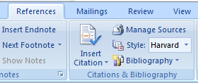 Enable Harvard Referencing in Microsoft Word